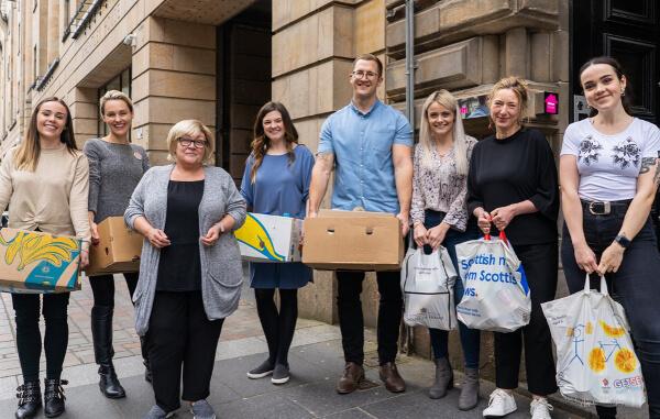 staff food bank donations