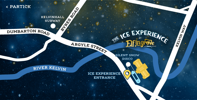 Map of the entry point for the Ice Experience on Argyle Street